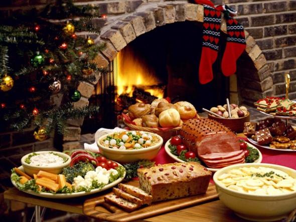 Рождественский облегченный ужин