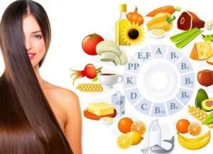 продукты для укрепления волос
